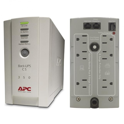 APC CS BK350 350VA 120V Backup Battery UPS