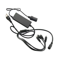 SCE 12VDC 5AMP Power Adapter with 4-Port Split Pigtail
