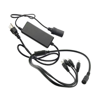 SCE 12VDC 8AMP Power Adapter with 4-Port Split Pigtail
