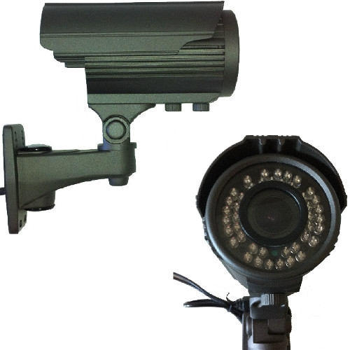 SCE 30J1000 1000TVL 720P IR Bullet Camera with Varifocal Lens (Black)