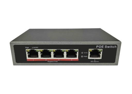 SCE 4-Port Gigabit POE Switch