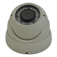 SCE IR Weatherproof VARI-FOCAL Dome Camera (White)