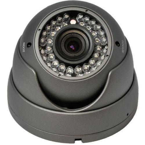 SCE D14C 1000TVL Vandalproof Dome Camera (Dark Gray)